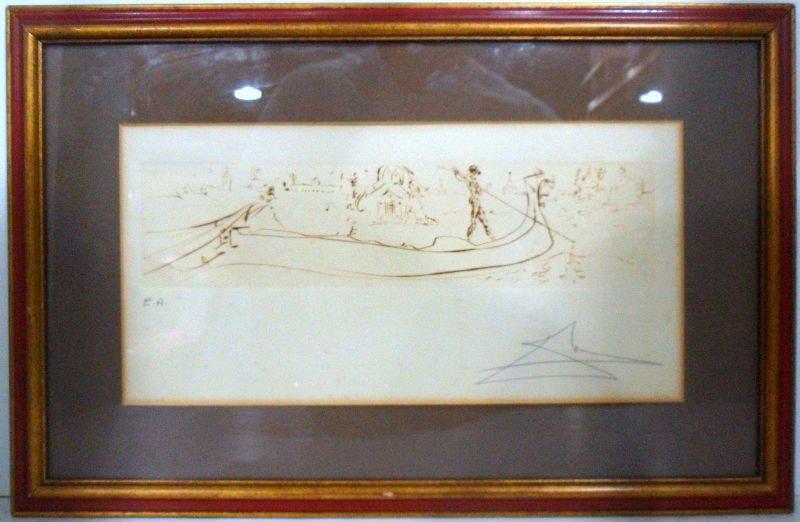 708: Salvador Dali Artist Proof Print