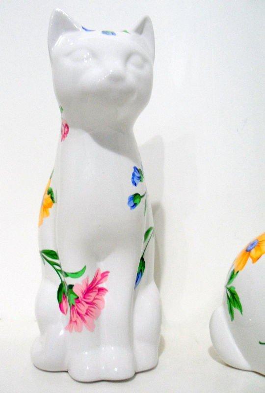 920: Tiffany & Co. Porcelain Rabbit and Cat - 3