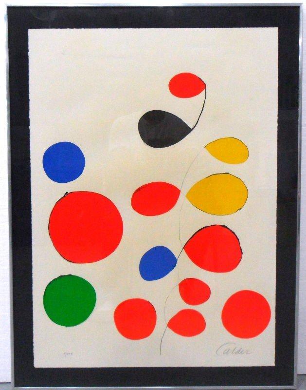 711: Alexander Calder Ltd. Edit. Signed Lithograph