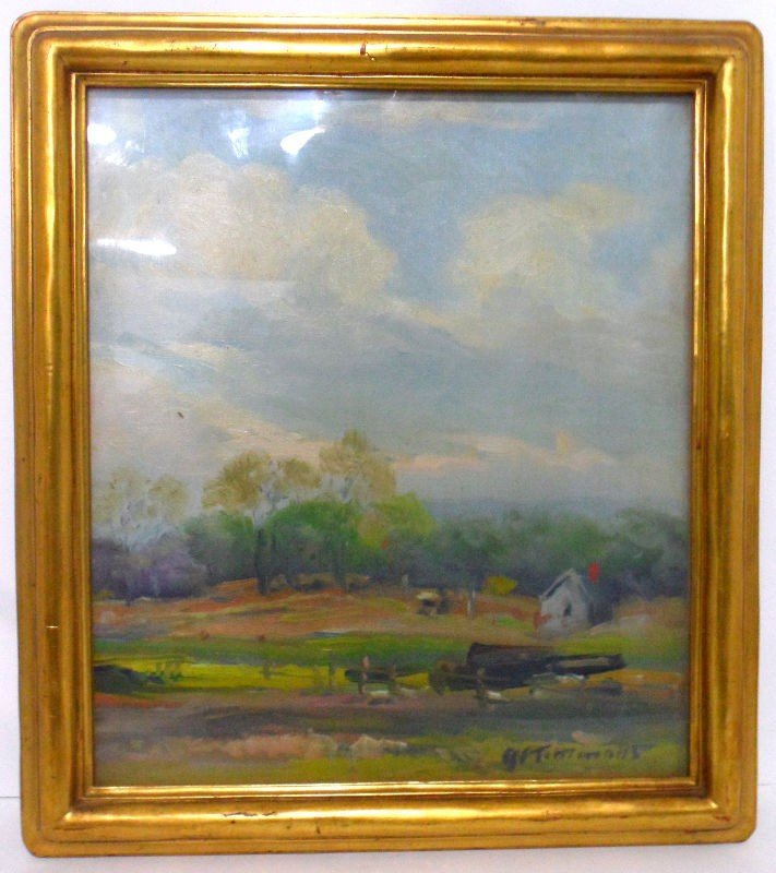 712: Edward J. Finley Timmons Oil Painting