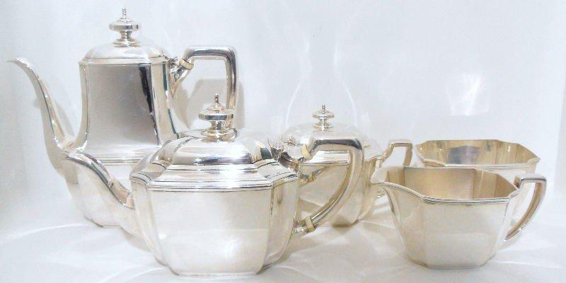 718: 5pc. Tiffany & Co. Sterling Hampton Tea Set
