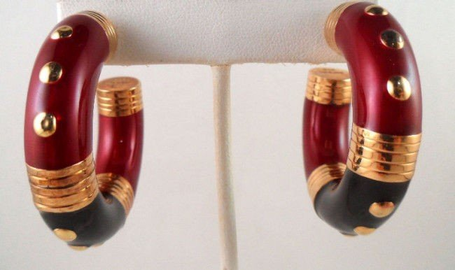 1A: Sterling Enamel Earrings