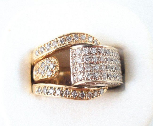 5A: 14Kt. Two Toned Diamond Ring