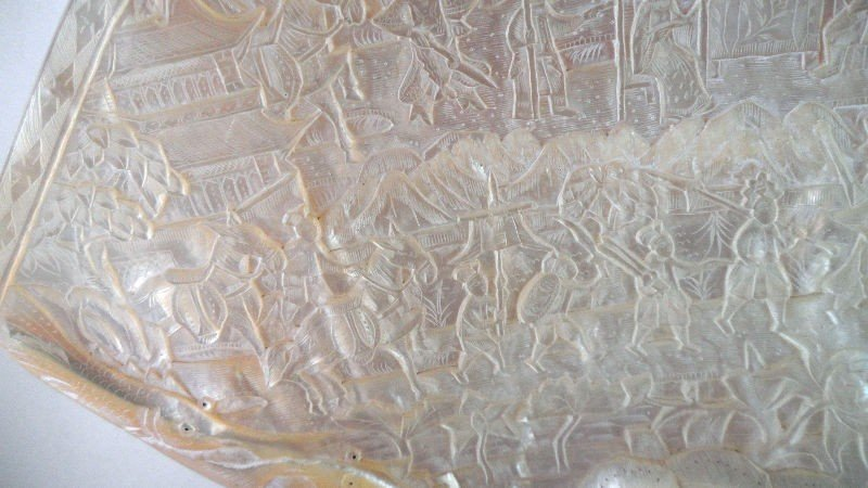 8: Chinese Mother of Pearl Carved Shells (2) - 3
