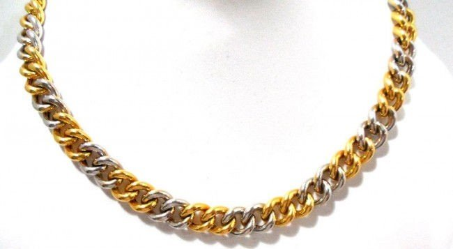 17A: Roberto Coin 18Kt. Y.G. Diamond Necklace