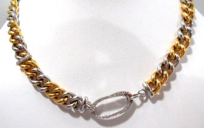 17A: Roberto Coin 18Kt. Y.G. Diamond Necklace - 2