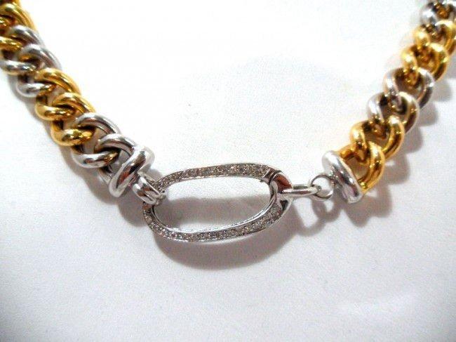 17A: Roberto Coin 18Kt. Y.G. Diamond Necklace - 3