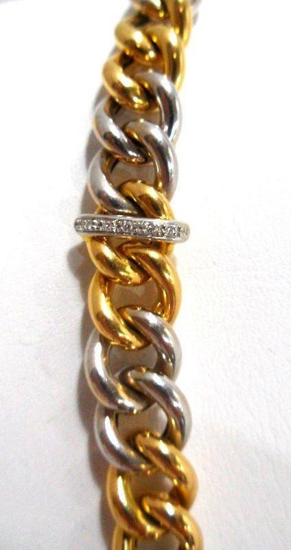 17A: Roberto Coin 18Kt. Y.G. Diamond Necklace - 4