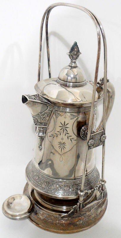 11: Antique Triple Silver Plate Samovar