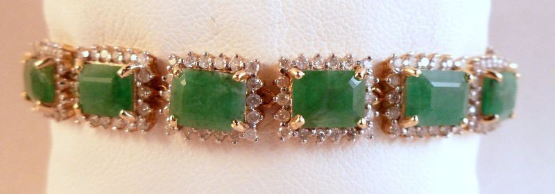 2A: 14 kt YG Diamond & Sapphire Bracelet