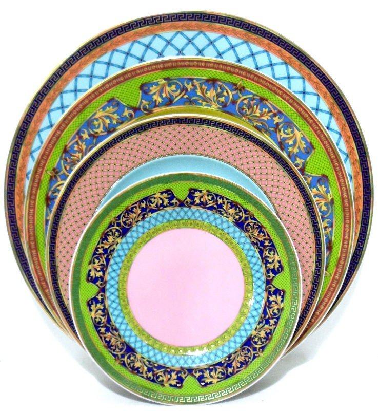 """327: Versace """"Russian Dream"""" Porcelain Dinner Service ("""