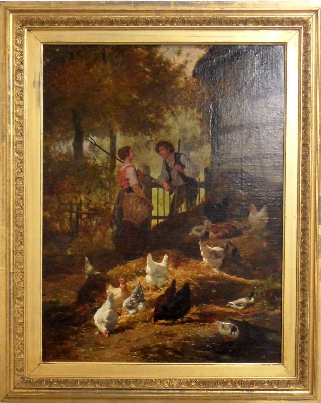 301: E. R. Maes & Jan David Col Oil Painting on Canvas