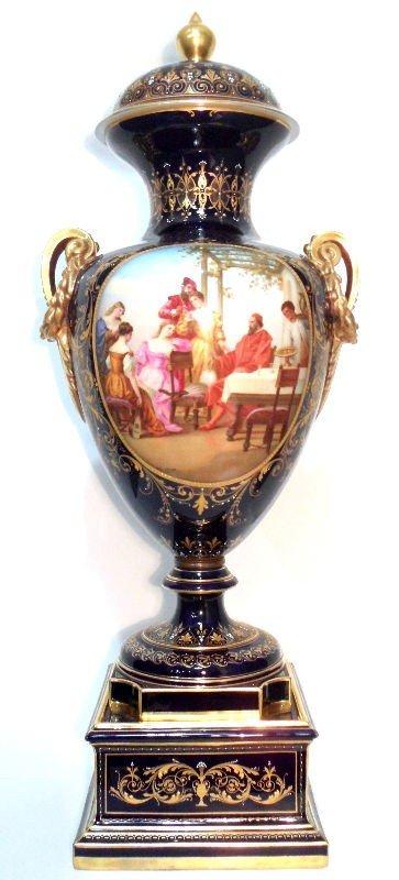 302: Royal Vienna Blue-Ground Vase