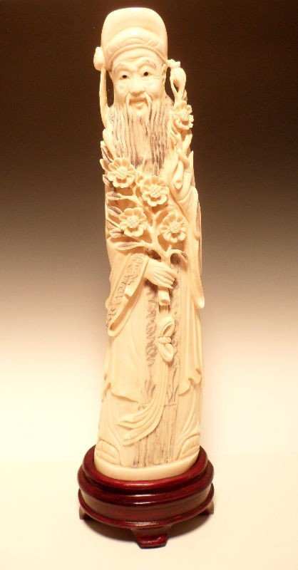 307: Chinese Ivory Figure of a Wise Man