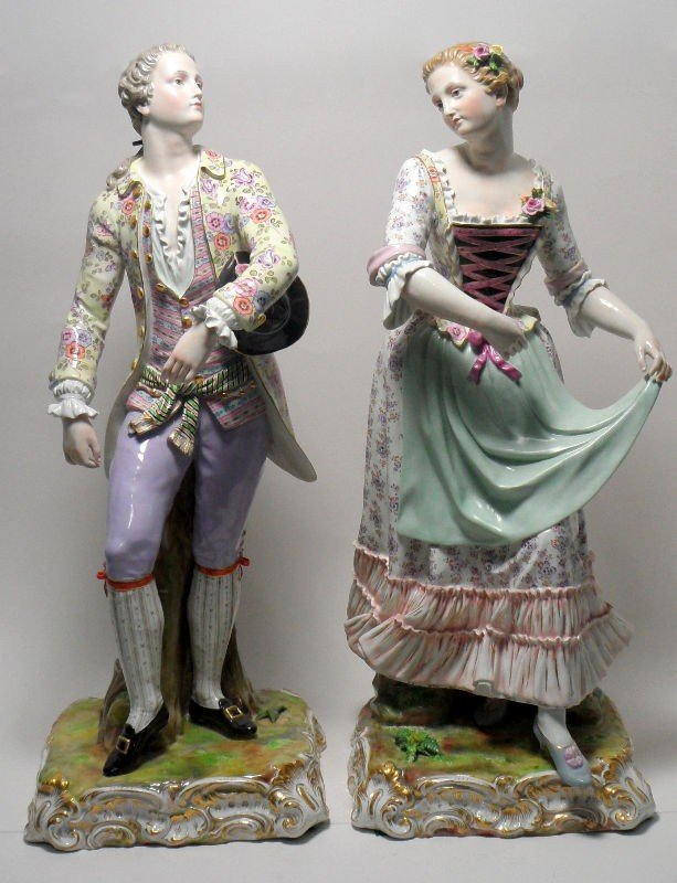 316: Meissen Monumental Gallant and His Lady (2)