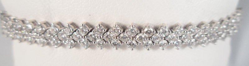 308A: 18Kt. W.G. 5.00Ct Diamond Bracelet