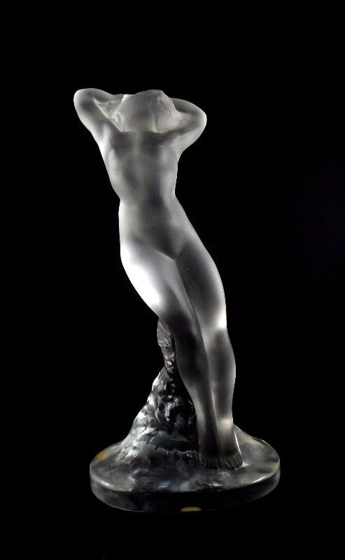 "609:  Lalique Crystal Nude ""Danseuse"" Figurine"
