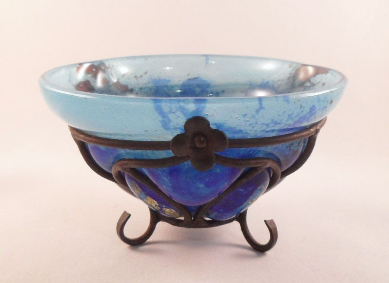 607A: Daum Nancy & L. Majorelle Glass Bowl