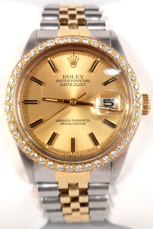 610A: Rolex Datejust Stainless Steel & 14K Gold Watch