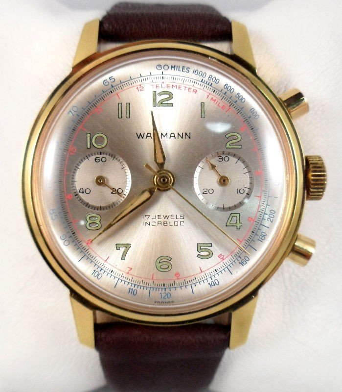 615A: Wakmann 1950's Two-Register Watch