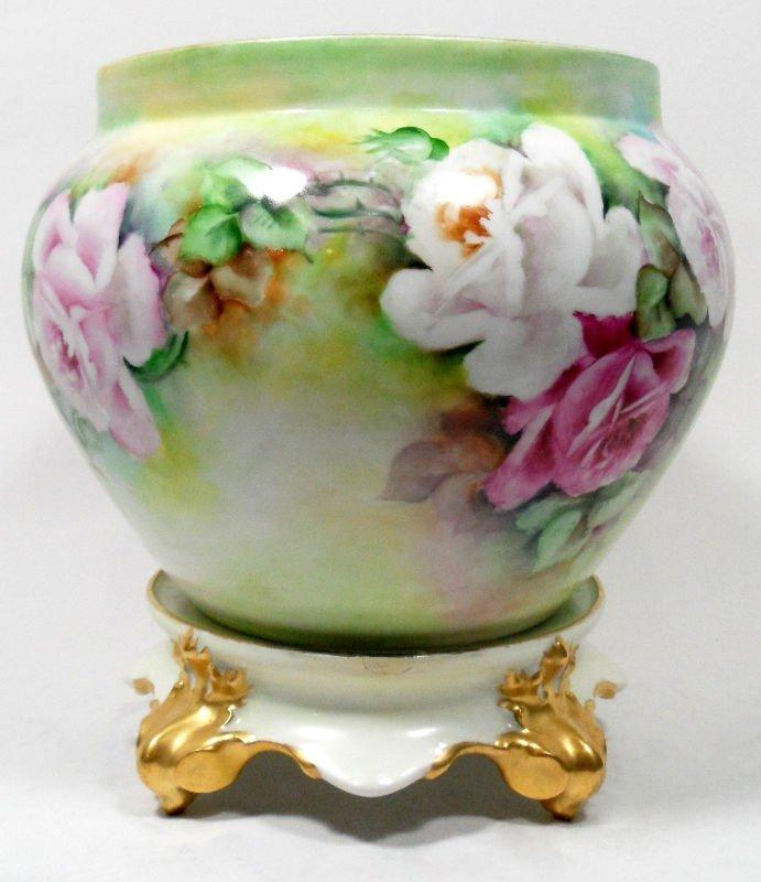6: Limoges France Porcelain Bowl on Stand