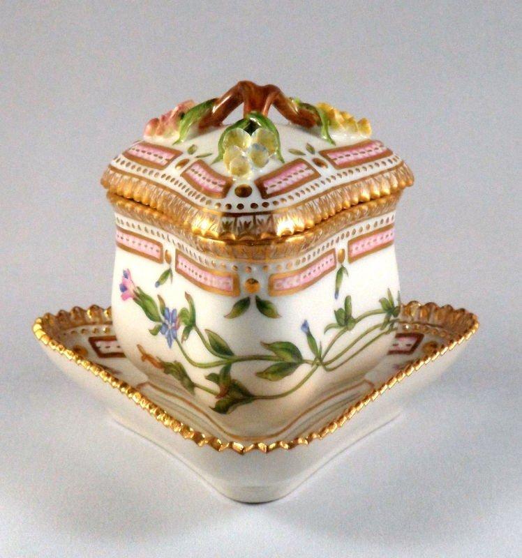 13: Royal Copenhagen Flora Danica Custard Cup & Saucer