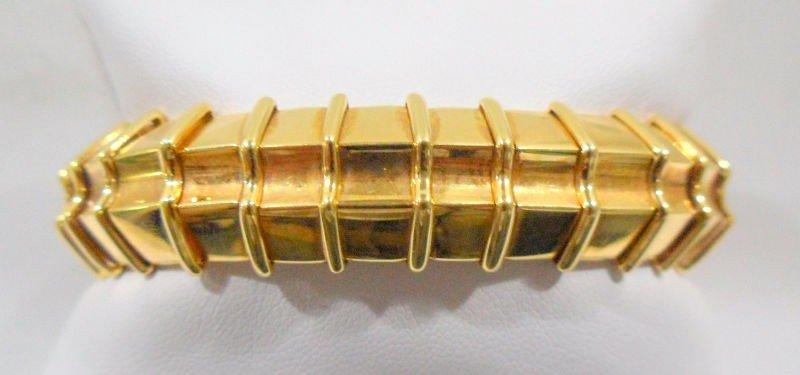 5: 18K Yellow Gold Ruby & Diamond Cuff Bracelet