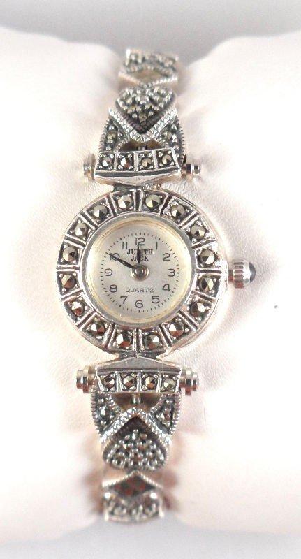 15: Judith Jack Sterling Silver Marcasite Ladies Watch