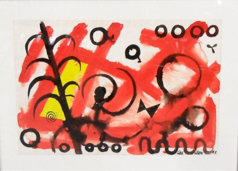 342: Alexander Calder Gouache on Paper