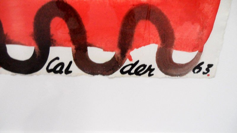 342: Alexander Calder Gouache on Paper - 2