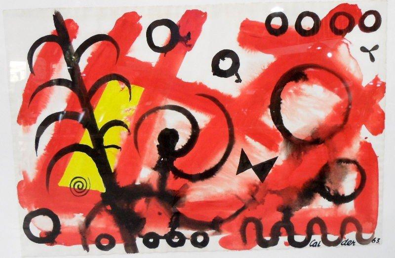 342: Alexander Calder Gouache on Paper - 3