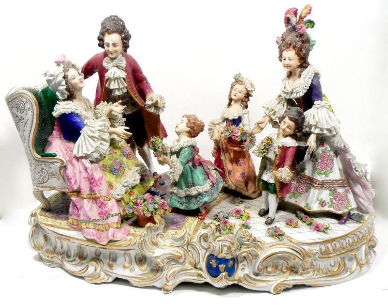 602: Dresden Porcelain Figural Group