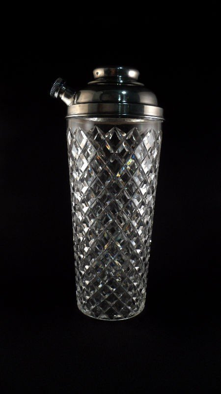 703: Hawkes Cut Glass and Sterling Cocktail Shaker