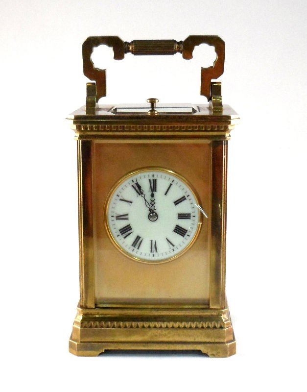 617: French Carriage Clock with Key