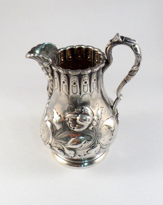 612: Tiffany & Co. Sterling Silver Repousse Creamer