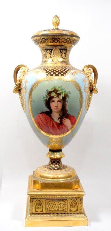 614: Antique Royal Vienna Wagner Vase
