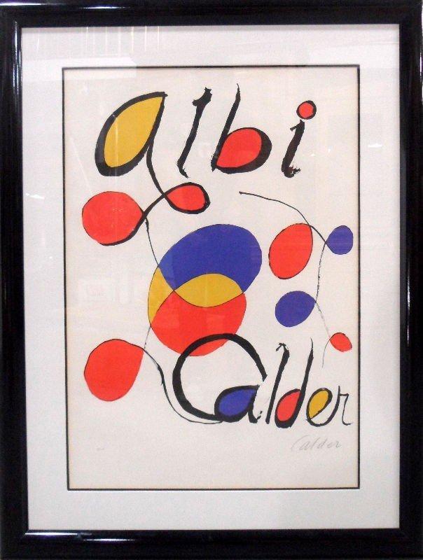 "606A: Alexander Calder Lithograph ""Albi"""