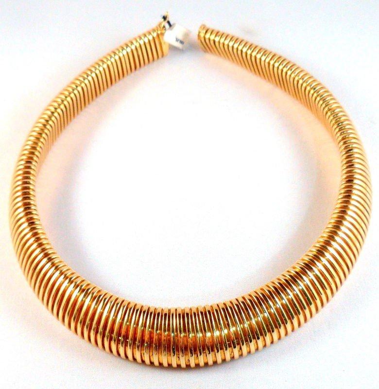 610B: Italian 18K Y.G. Choker Necklace