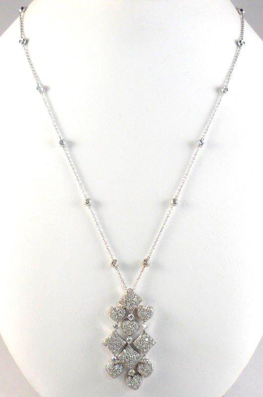 625B: 18Kt. W.G. Diamond Necklace