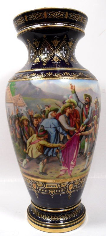 201: Royal Vienna Vase, Signed E. Latterman