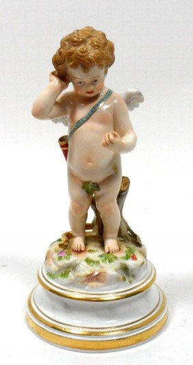 207: Meissen Porcelain Figure of Cupid