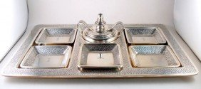 Tiffany & Co. Sterling Silver Ashtray Set