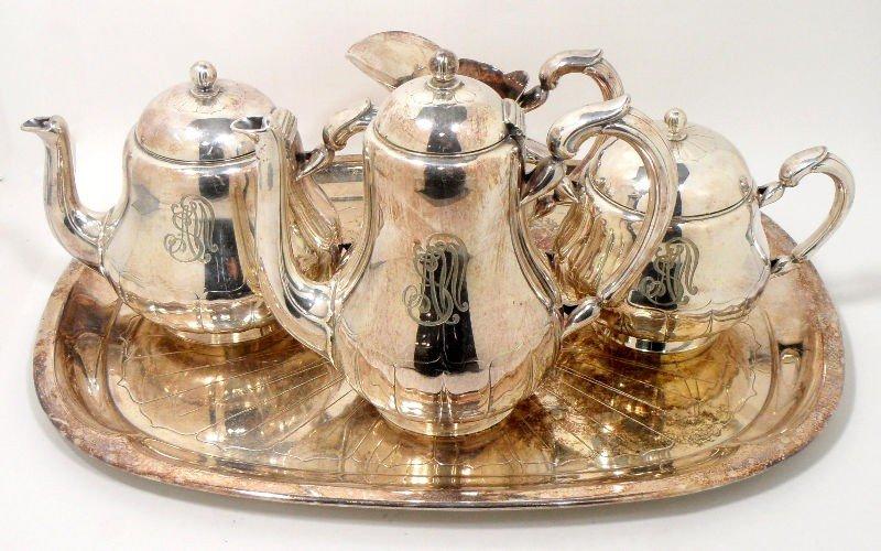 210: Christofle Silver Plate Tea Set (5pcs)
