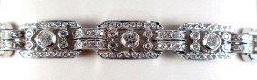 18K White Gold Ladies Diamond Bracelet
