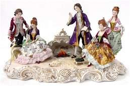 399: Capodimonte Porcelain Figure Group