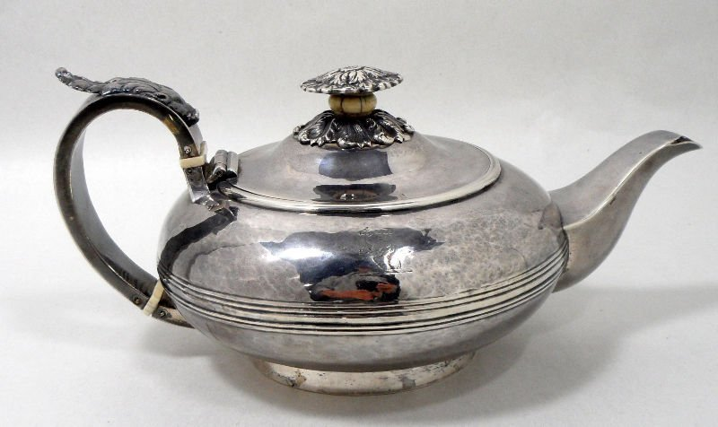 503: Antique William Traies Sterling Teapot
