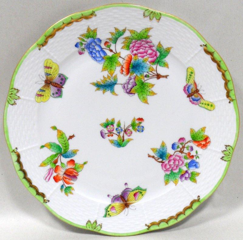 508: Herend Queen Victoria Dinner Plates (12)