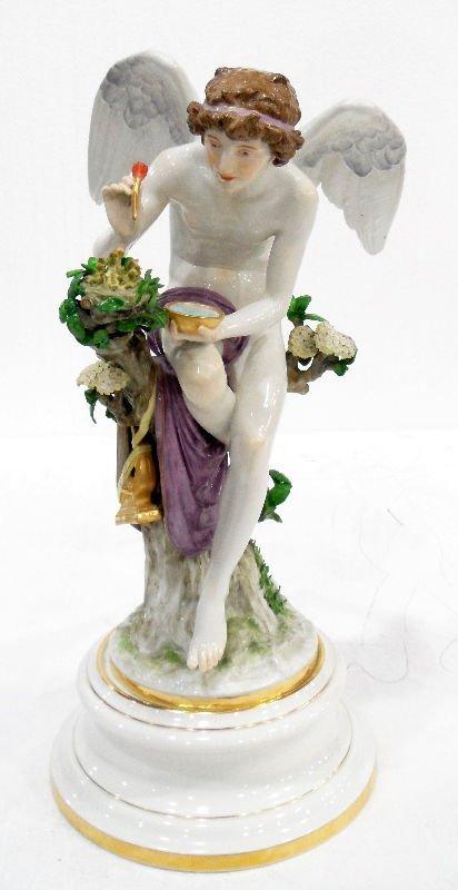 "514: Meissen Monumental Angel Figure, 20 1/2""H"