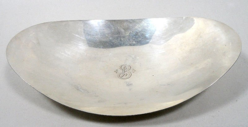 805: Tiffany & Co. Makers Sterling Oval Dish