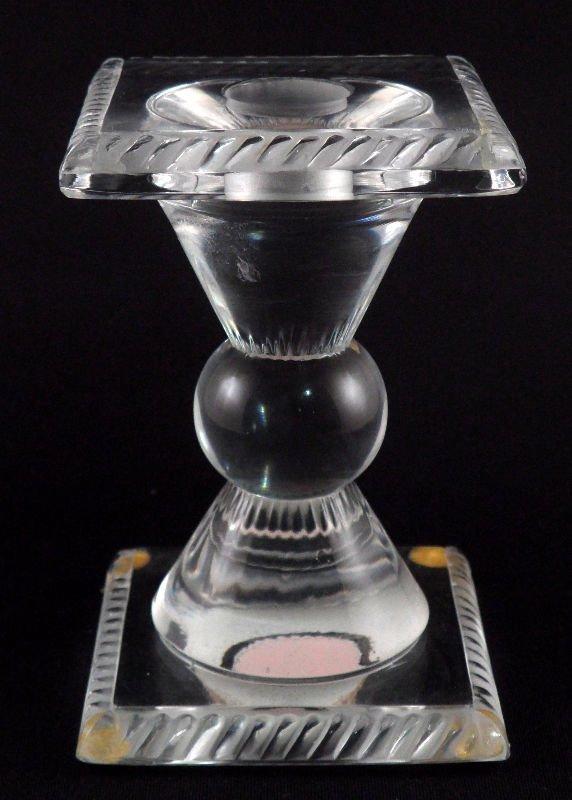 811: Lalique Crystal Candle Stick Holder